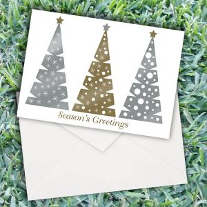 Christmas Stamped Trees Cards