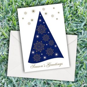 Christmas Shimmering Tree Cards