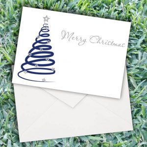 Christmas Spiral Tree Cards