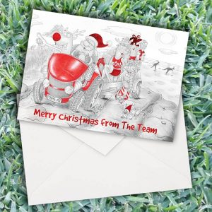 Christmas Santa Tractor Cards