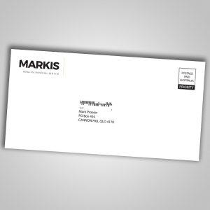 Overprint DLX envelopes with Addresses