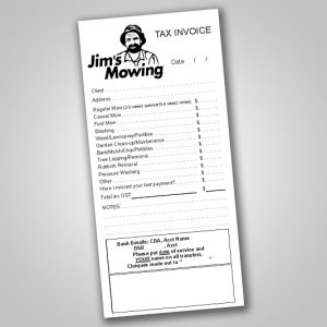 Jim's Mowing Carbonless DL Invoice & Quote Books