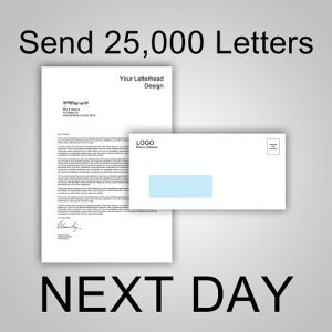 Send 25,000 Letters NEXT DAY