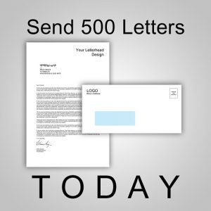 Send 500 Letters TODAY